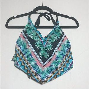 Other - Tropical Slimming Control Flounce Bikini Top